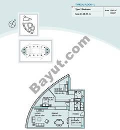 Type L 2 Bedroom Suite (1,8,9,16)