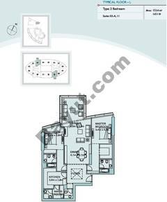 Type L 2 Bedroom Suite (3,11)