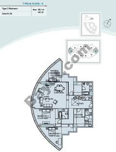 Type H 3 Bedroom Suite (1,6)