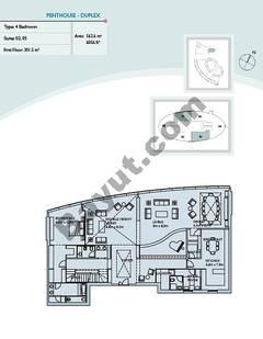 Penthouse 4 Bedroom Suite (2, 5)