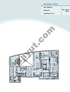 Penthouse 4 Bedroom Suite 2,5,1