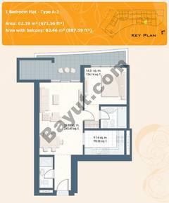 1 Bedroom Flat Type A-2