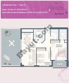 2 Bedroom Flat Type E