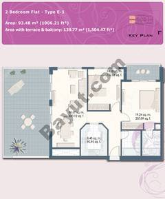 2 Bedroom Flat Type E-1
