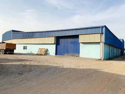 Industrial Land for Rent in Emirates Modern Industrial Area, Umm Al Quwain - Open Shade with open land and labour room for Rent