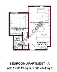Typical Units, 1 BR, Type A