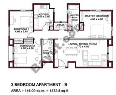 Typical Units, 3 BR, Type B
