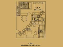 Floorplan For One Bedroom