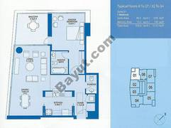 Typical 1 Bedroom 4th to 27th,32nd to 34th