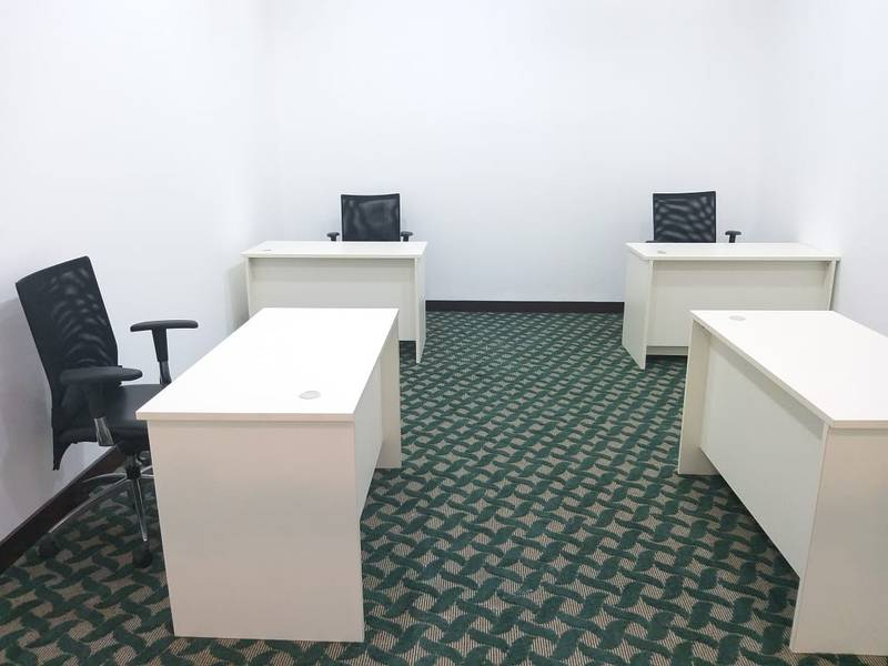 2 FULLY FURNISHED & SERVICED OFFICE SPACE FOR NEW BUSINESS SETUP & RENEWALS WALKING FROM METRO STATION  IN HEART OF DUBAI