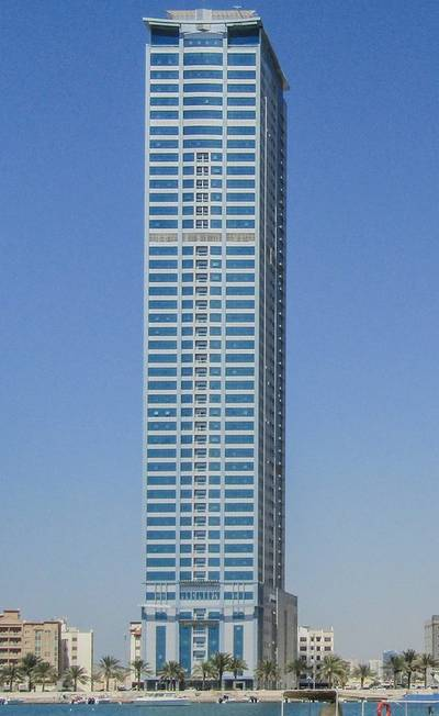 فلیٹ 2 غرفة نوم للايجار في الخان، الشارقة - Flat No 3102 for 2 ( bedroom  hall ) Large Spaces  in New Tower ( Borj Alsaada 50 floor ) in Sharjah