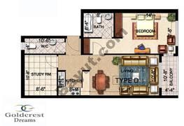 Type D 1 Bedroom
