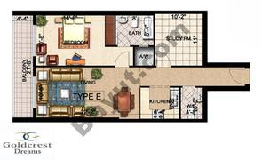 Type E 1 Bedroom