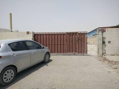 2 Bedroom Industrial Land for Rent in Industrial Area, Sharjah - 20500 sqft open yard 3 phase power water office shed  boundary wall industrial area 11 sharjah
