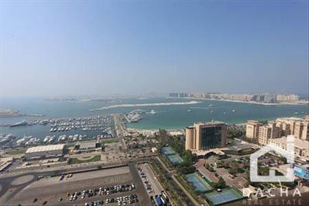 1 Bedroom Apartment for Rent in Dubai Marina, Dubai -  large 1 bed on high floor