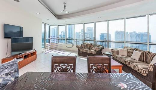 4 Bedroom Apartment for Sale in Dubai Marina, Dubai - Rented 4BR with Balcony+Maid|Horizon Tower