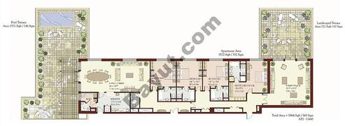 4 Bedrooms Terrace Apartment