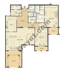 2 bedroom- 1775sqft