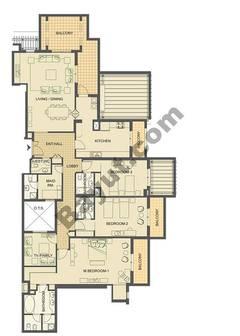 3 bedroom- 2517sqft