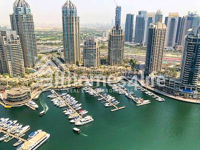 3 Bedroom Apartment for Sale in Dubai Marina, Dubai - Full Marina View |3 Parking | High Floor