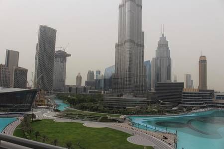 Full Burj and Fountain view