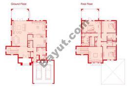Floors (Ground,1st) 3 Bedroom Type 2