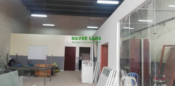 Warehouse for Rent in Mussafah, Abu Dhabi - 200 SQM WAREHOUSE WITH DECORATED OFFICE  IN MUSSAFAH  FOR 85K