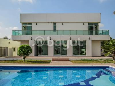 5 Bedroom Villa for Rent in Al Barsha, Dubai - SPACIOUS VILLA WITH BALCONY AND POOL VIEW IN AL BARSHA 2
