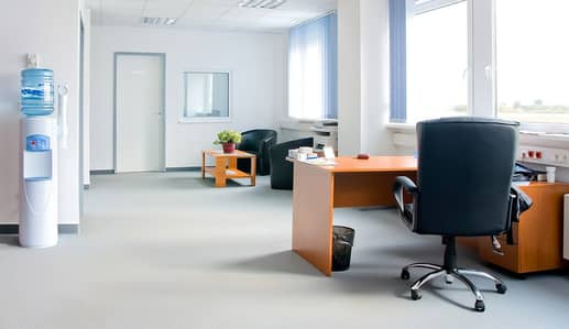 Office for Rent in Al Mamzar, Dubai - S-FULLY FURNISHED OFFICE AVAILABLE WITH SEPARATE EJARY AND ALL THE AMENITIES INCLUDED