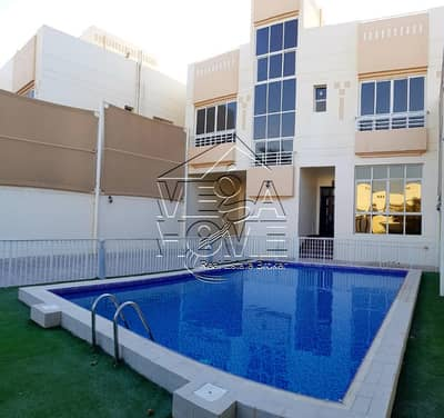 4 Bedroom Villa for Rent in Khalifa City A, Abu Dhabi - PRIVATE ENTRANCE 4 BED VILLA W/GARDEN AND POOL