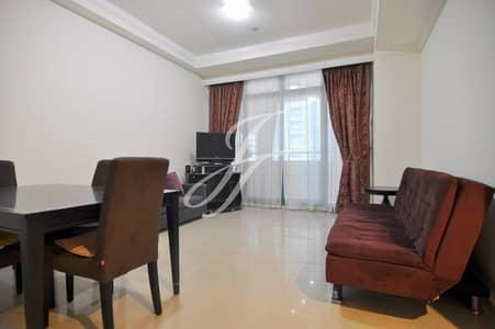 1 Bedroom Apartment for Rent in Dubai Marina, Dubai - Semi Furnished - Partial Sea View 1 BR