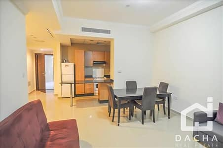 1 Bedroom Flat for Rent in Dubai Marina, Dubai - Furnished 1BR on middle floor Multiple Cheques.