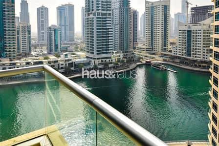 1 Bedroom Flat for Rent in Dubai Marina, Dubai - Full Marina View | Large Balcony | 1BR |