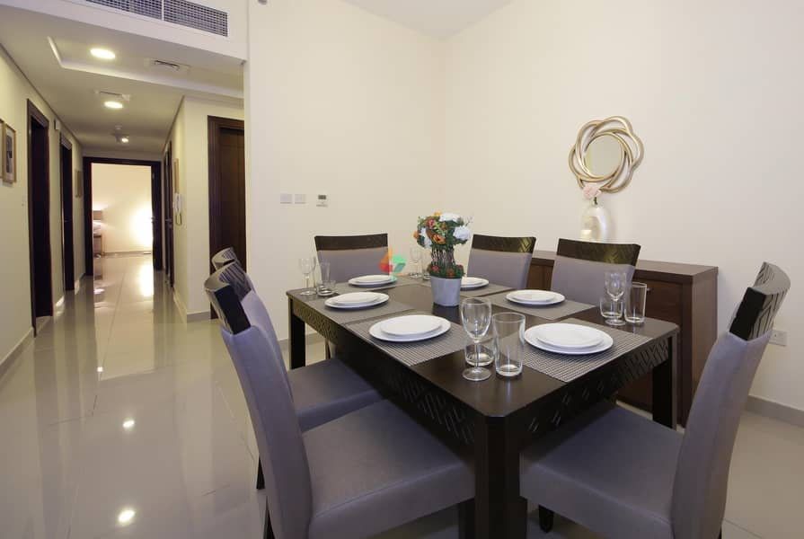 2 Bold 2Bedrooms wt Maid room at Al Barsha with Modern Furniture