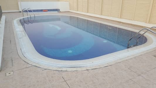 1 Bedroom Apartment for Rent in Al Mamzar, Dubai - Offer for 1 week only 1br 40k (1100. sq. ft) AC free with all amenities.  call Mohammad