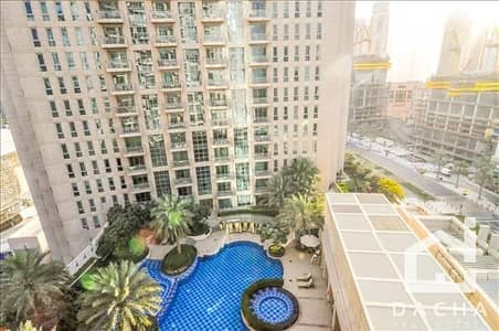 1 Bedroom Apartment for Rent in Downtown Dubai, Dubai - POOL AND BOULEVARD VIEW / SPACIOUS 1BED!