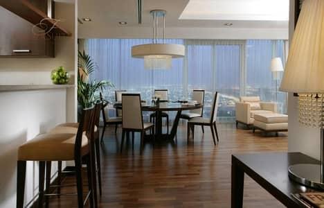 شقة فندقية 3 غرفة نوم للايجار في الصفوح، دبي - Elegant and Spacious 3BR Penthouse 45th Floor