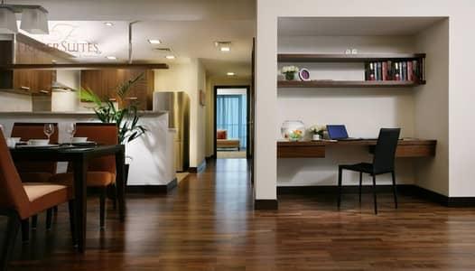 شقة فندقية 2 غرفة نوم للايجار في الصفوح، دبي - Exclusive 2BR with City View in Media City