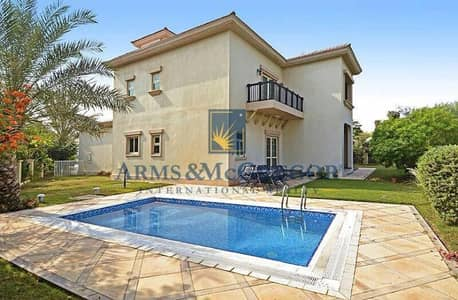 4 Bedroom Villa for Rent in Jumeirah Islands, Dubai - beautiful & well maintained 4br plus maid villa