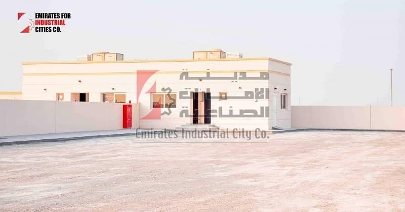 rent @ 10 AED/sq.ft  - Open Yard with 2 Offices