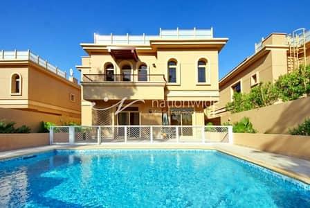 4 Bedroom Villa for Sale in Al Raha Golf Gardens, Abu Dhabi - Classy 4BR Villa w/ Pool + Extra Kitchen