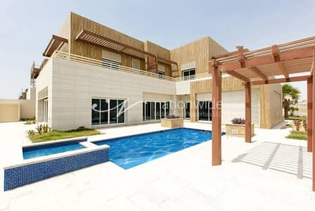 6 Bedroom Villa for Sale in The Marina, Abu Dhabi - Luxurious Waterfront 6BR Villa with Pool