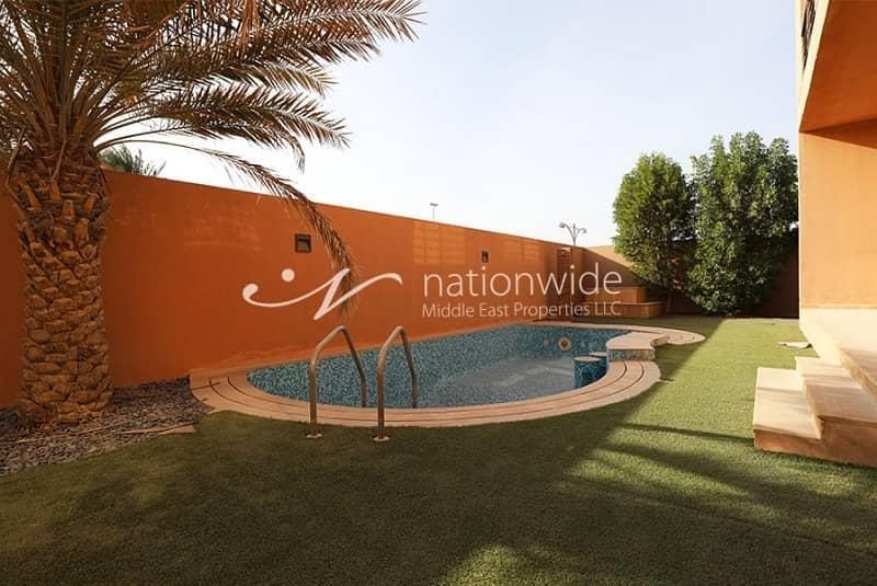 Vacant Now 4BR Villa w/ Pool in Khalifa City