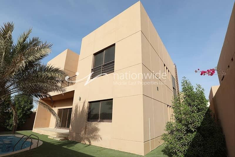 10 Vacant Now 4BR Villa w/ Pool in Khalifa City