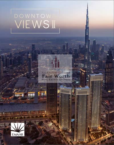 3 Bedroom Apartment for Sale in Downtown Dubai, Dubai - 3 BHK in Gleaming Towers / 5  years Plan