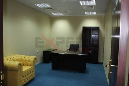 Office for Rent in Bur Dubai, Dubai - Full office furnished and serviced office with 1 year Ijari