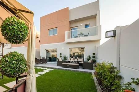 3 Bedroom Villa for Rent in Al Samha, Abu Dhabi - Corner Single Row 3BR maid villa. .