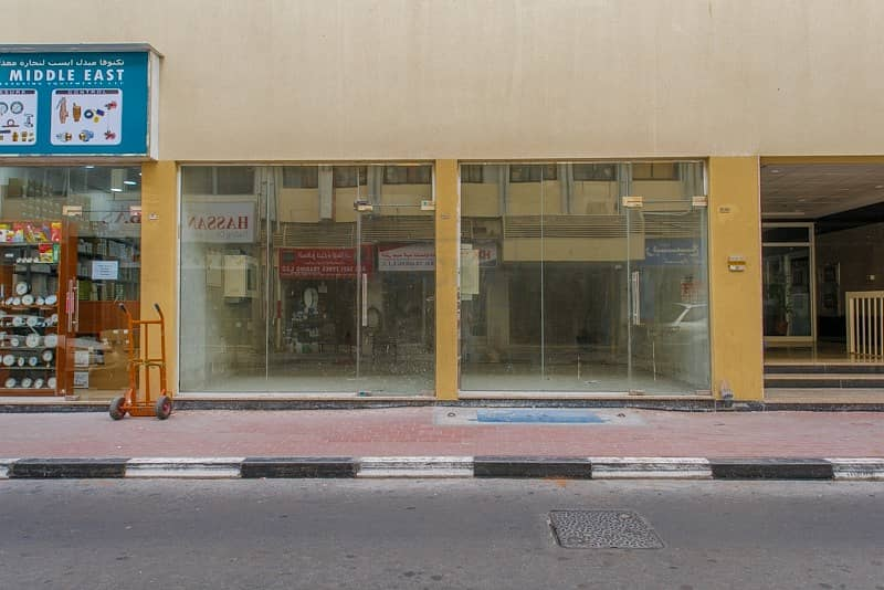 2 220 Sq.Ft  Shop with Split A/C  Close to Metro Station   Deira