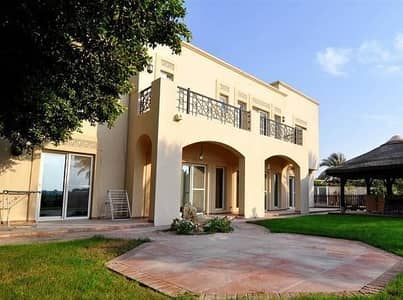 6 Bedroom Villa for Sale in Arabian Ranches, Dubai - Golf Course View- Al Mahra Type 13- 6 bed+maids