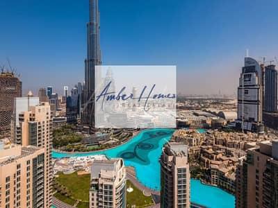 3 Bedroom Flat for Rent in Downtown Dubai, Dubai - One of a Kind 3BR+Maids   Full Burj Khalifa & Fountain View